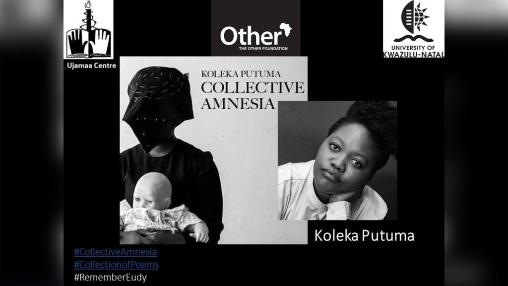The annual Eudy Simelane memorial lecture was presented by South African Queer Poet Ms Koleka Putuma.