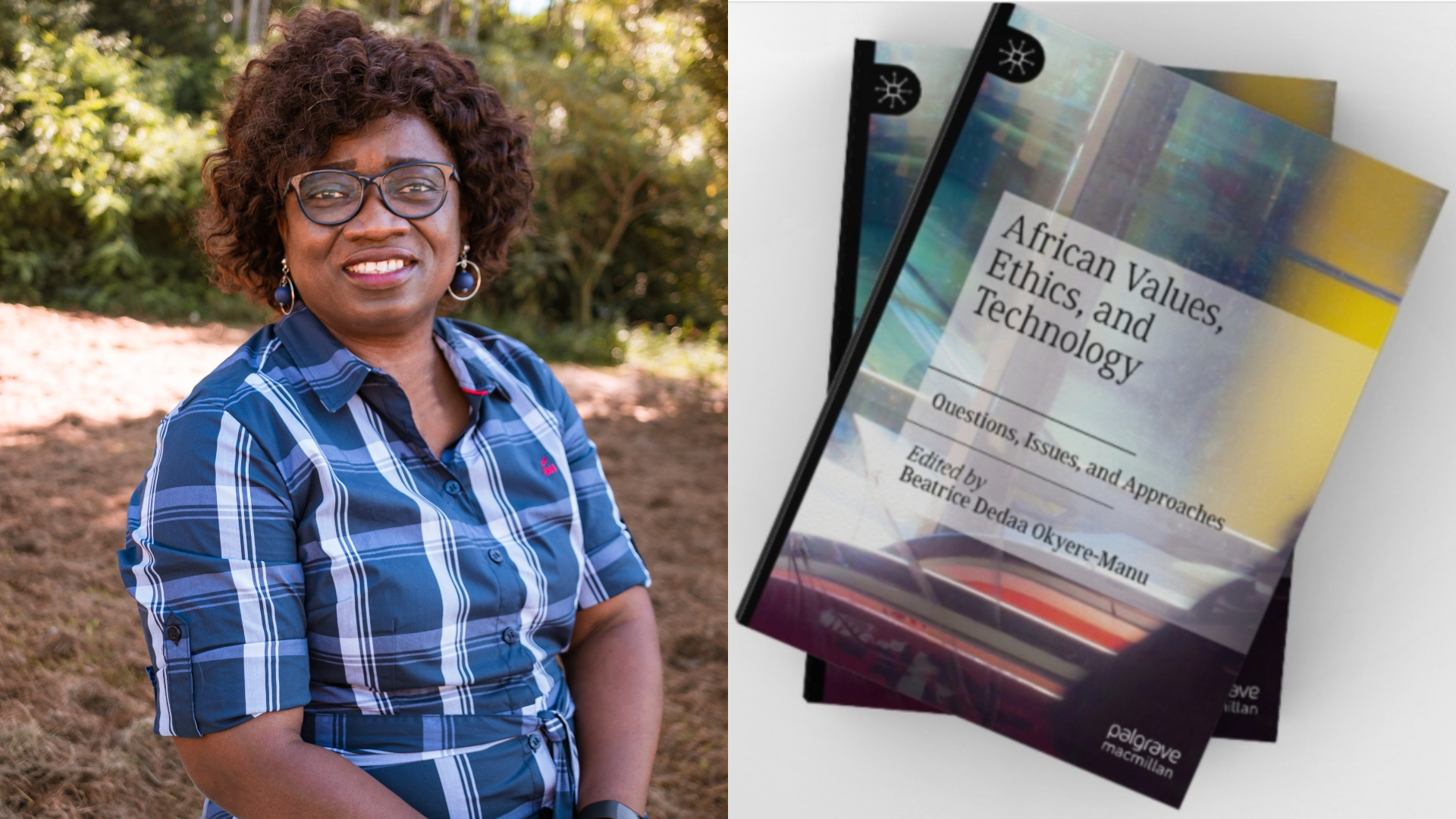 Dr Beatrice Okyere-Manu with her new book.